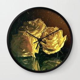 """La Rosa Amarilla"" Yellow Rose  Wall Clock"