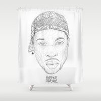 hiphop Shower Curtains featuring JayDee (HipHopLegendz MiniSeries) by AP Illustration