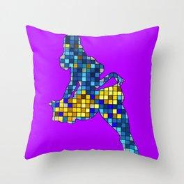 Pixelated Pin Up- Chun-Li Fan Art Throw Pillow