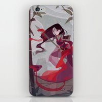 mulan iPhone & iPod Skins featuring Mulan by Ann Marcellino