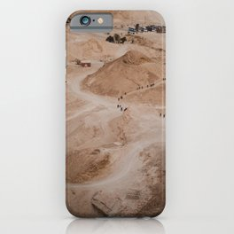 View From Above Hiking the Masada at Sunrise, Israel iPhone Case