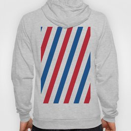 Blue, white and red stripes pattern Hoody