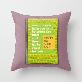 Great books like you magenta Throw Pillow