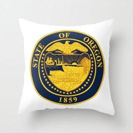Oregon State Seal Throw Pillow