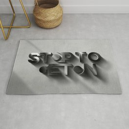 Stop to get on - 3D Rug