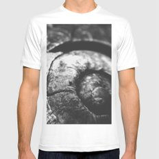 Shell-Black edition White MEDIUM Mens Fitted Tee