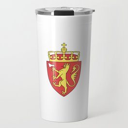 flag of Norway 7 -coast of arms Travel Mug