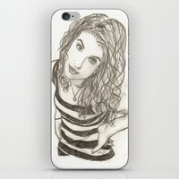 hayley williams iPhone & iPod Skins featuring Hayley Williams by Dead Rabbit