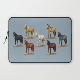 Horse Common Solid Coat Colors Chart Laptop Sleeve