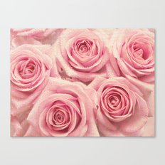 For the love of pink roses Canvas Print