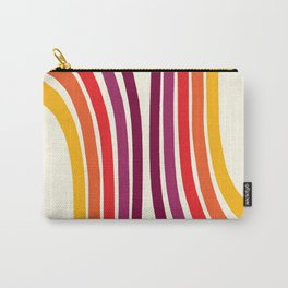 Retro Rainbow Stripes, Marker art work Carry-All Pouch