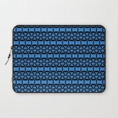 Dividers 02 in Blue over Black Laptop Sleeve