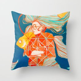 Fire Ring in Pisces Throw Pillow