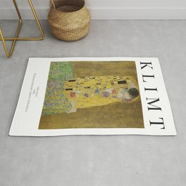 The Kiss - Gustav Klimt - Exhibition Poster Rug