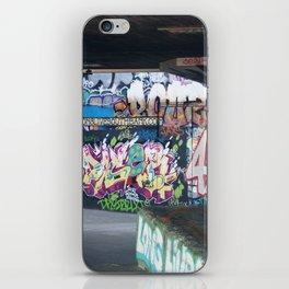 Underland Graffiti on Thames iPhone Skin