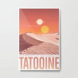 Footsteps in the sands Tatooine Metal Print