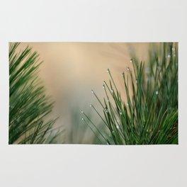 RAINDROPS ON GRASS Rug