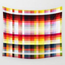 retro geometric colorful Nappi Wall Tapestry