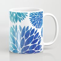 Ocean Flowers Watercolor Mug