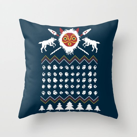 Ugly Mononoke Sweater Throw Pillow