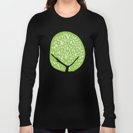 Tree of life - pea green Long Sleeve T-shirt