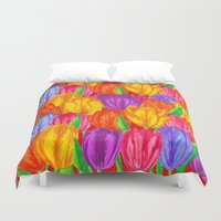 tulip Duvet Covers featuring Tulip by Fifikoussout