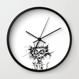 Angst Cat Wall Clock