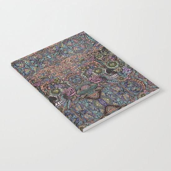 Sensory Overload Skull in Pastels Notebook