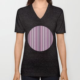 Purple Optical Illustion Unisex V-Neck