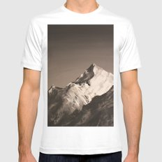 Mountain Painting White MEDIUM Mens Fitted Tee