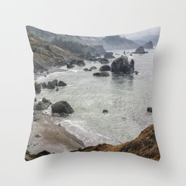 Rock Formations Around Sisters Rock State Park Throw Pillow