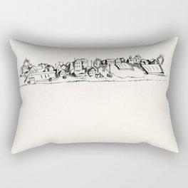 small town architecture Rectangular Pillow