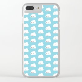 Happy Kawaii Clouds Clear iPhone Case