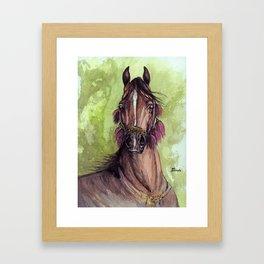Arabian horse watercolor art Framed Art Print