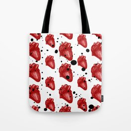 Heart Splash [Red] Tote Bag
