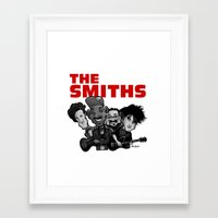 the smiths Framed Art Prints featuring The Smiths (white version) by BinaryGod.com