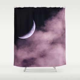 Crescent Moon On A Fluffy Pillow Shower Curtain