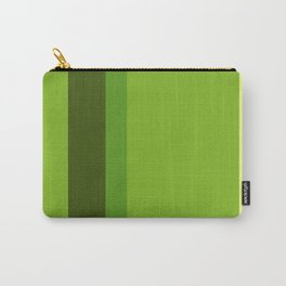A perfect alliance of Sap Green, Yellowish Tan, Icky Green and Navy Green vertical stripes. Carry-All Pouch