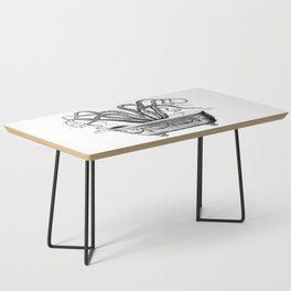 Tentacles in the Tub | Octopus | Black and White Coffee Table