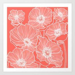 Coral Poppies Kunstdrucke