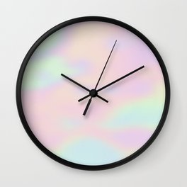 Colorful abstract holographic background Wall Clock