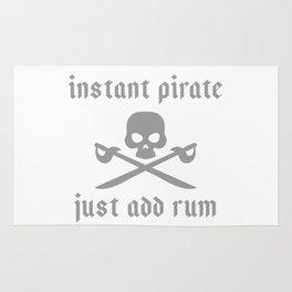 Instant pirate just add rum Rug