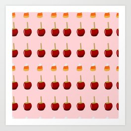 Candy Apples in Pink Art Print