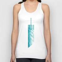 final fantasy Tank Tops featuring Final Fantasy VII by GIOdesign
