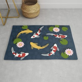 Japanese Koi Fish Pond Rug