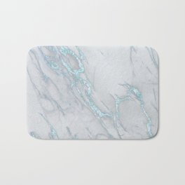Marble Love Sea Blue Metallic Bath Mat