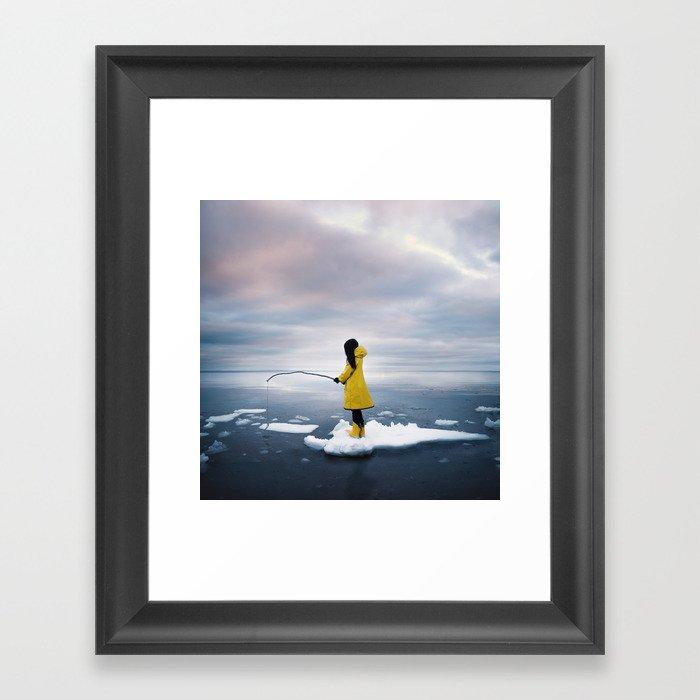 La légende nordique Framed Art Print