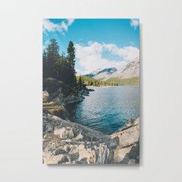 Lake Minnewanka Metal Print