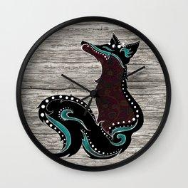Bohemian Zorro Fox (left) Wall Clock
