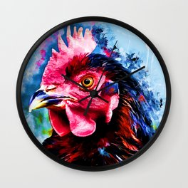 rooster art 2 #rooster #animals Wall Clock
